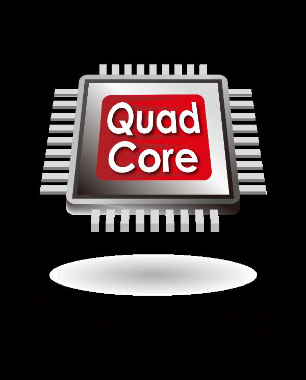 Quad Core Logo 1.6ghz Quad-core Processor